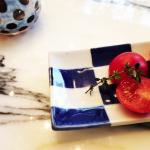 梨花ちゃん愛用のお皿はコレ>>上にのせたトマトが美味しそうっ♬