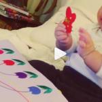 優木まおみサン愛用の知育玩具>>布製の絵本『え?蝶蝶食べちゃうの?笑』