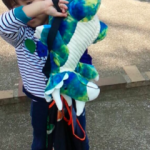 海老蔵さんちの息子くん『恐竜リュック』が激カワっ☆☆☆☆
